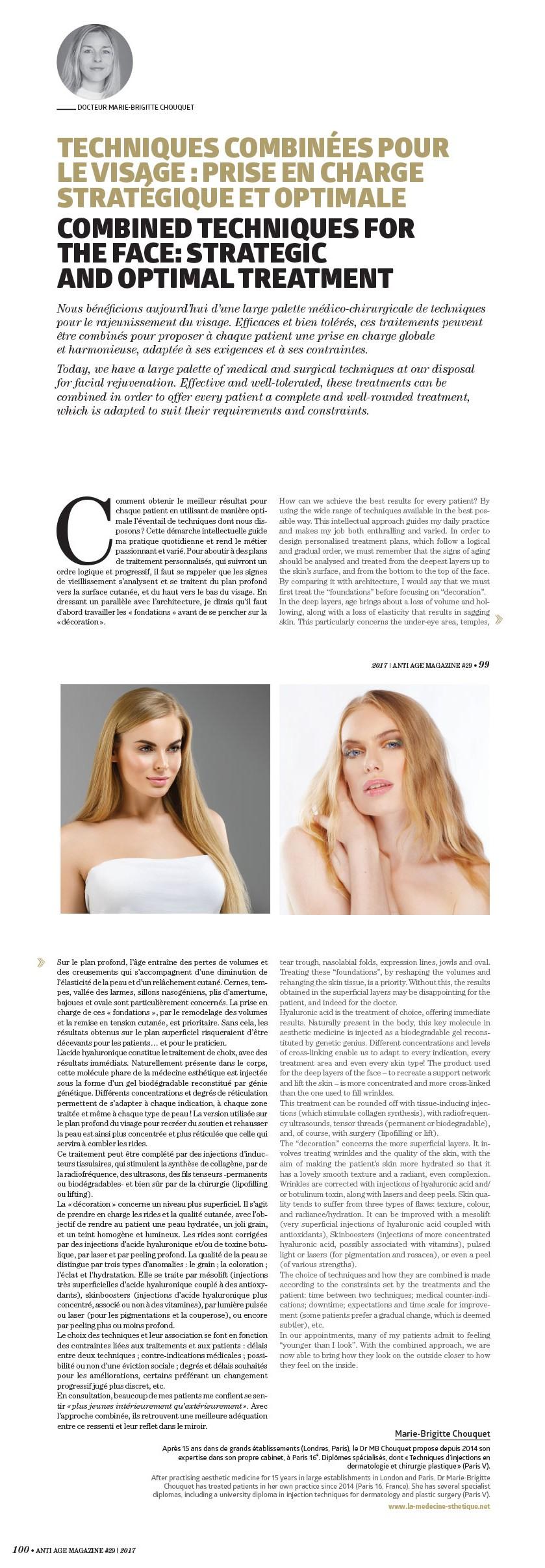 Parution du magazine Anti-age - Médecine esthétique à Paris   Dr Chouquet